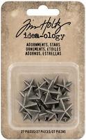 Tim Holtz Idea-ology Adornments Stars Decorative Ornament Charms