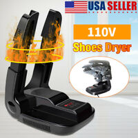 Portable Boot Dryer Folding Shoes Warmer Odor Remover Electric Heat With Timer