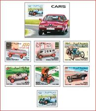 SOM98062 Old cars 7 stamps and block