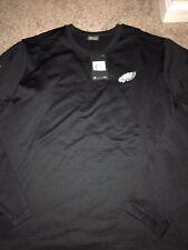 Philadelphia Eagles Black Nike Modern Crew Coach Pullover Sweatshirt XXL