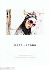 PUBLICITE ADVERTISING 086  2012  Marc Jacobs lunettes solaires Xiao by J.Teller