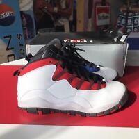 Nike Air Jordan 10 Retro White/Black-University Red 310806 160 Size 6.5Y