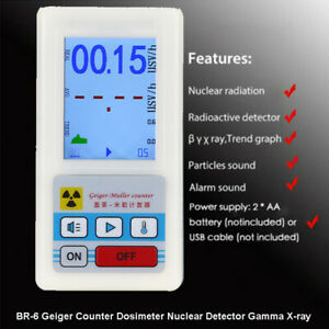 Geiger Counter Dosimeter Radiation Nuclear Tester Detector Gamma X-ray Handheld