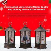 DIY LED Lantern Light Retro Christmas Flame Candle Lamp Glow Party Xmas Decor UK