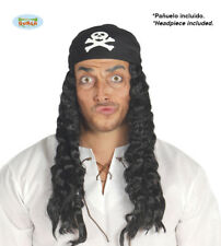 Halloween Pirate wig with bandana