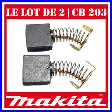 Le lot de 2 charbons 7 x 16 x 18 mm Makita CB-203