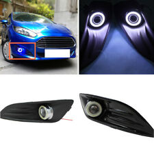 for Ford Fiesta 14-16 Auto Front Bumper Angel Eye+Fog/Driving Light Coveroo