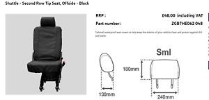 zgb7he062048 Shuttle waterproof seat cover Second Row Tip Seat, Offside - Black