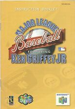 Nintendo 64 Major League Baseball featuring Ken Griffey Jr Instruction Booklet