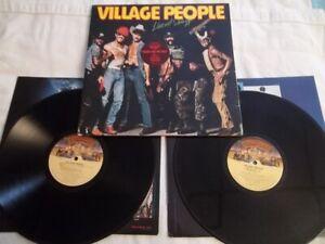 RARE PROMO Village People Live And Sleazy DBL.LP Casablanca NBLP-2-7183
