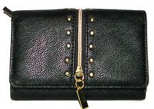 MIX no.6 Black Trifold Clutch Wallet NWT