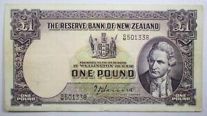 {DO296D} New Zealand 1 Pound Banknote P-159a