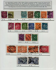 Inflation: Minr 158 - 176 Postmarked, with Some Unterfarben, E.g. 174 C,176 B