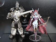LOT OF 2 World of Warcraft Forsaken Queen Sylvanas Windrunner Arthas Figure SET