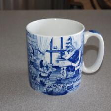 Spode 2006 - Blue Room Collection - Christmas Mug Santa's Big Day Busy Workshop