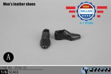 1/6 scale BLACK Evening Dress Shoes HOLLOW for CUSTOM 12'' MALE figure Doll