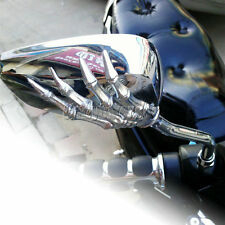 Chrome Skull Rearview Mirrors Fit Kawasaki Vulcan VN 800 900 1500 1600 Classic