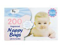 150sacks x2 nappy sacks with odour neutraliser and easy tie