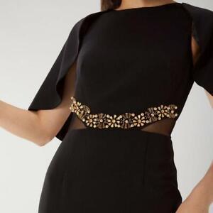 Coast - Nadya Trim Maxi Dress - Black - Size 6 (Brand New With Tag) - RRP 195