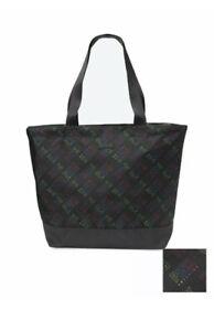 Victoria Secret Pink Weekender Tote Bag Black Weekend Shoulder Bag $39.95 Retail