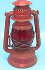 Nier Feuerhand 270 kerosene Railroad Lantern, red paint & red globe Germany NKP?