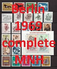Berlin Complete Year 1969/1970 MNH Stamps, Mi. 326-378, Germany, 2 pictures