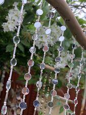 Sun Silver Rose Gold Garden Patio Window Balcony Home Mirrors Beads Bohemian
