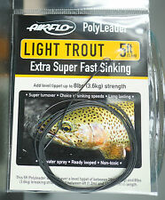 Airflo Polyleader Light Trout 5ft  1 50 Mtr. extra super fast Sinking 6.1 In/sec