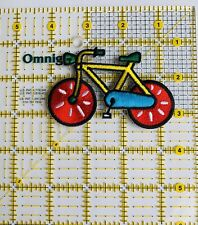 #P3427 Large,Small Lady Bicycle Embroidery Iron On Applique Patch