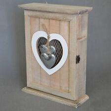 Wooden Hearts Key Box Rack Cabinet KEYS Holder Storage Shabby chic #47 NEW