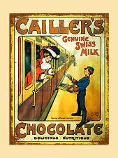 VINTAGE Stile Retrò cioccolato svizzero poster immagine metallo segno MURO PORTA TARGA