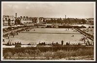 Sussex - Eastbourne - The Redoubt Bowling Green - Vintage Real Photo Postcard