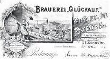 GLÜCKAUF Brauerei AG Gelsenkirchen Gründeraktie 1895 Pokorny Bier Brau + Brunnen