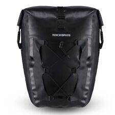 RockBros Bike Black Waterproof Pannier Bag Bike Rear Seat Carrier Large Capacity