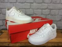 NIKE INFANTS AIR FORCE 1 LOW BASKETBALL WHITE LEATHER TRAINERS T CHILDRENS