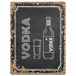 PP0738 VODKA Plate Sign Home Bar Kitchen Store  Pub Restaurant Decor Gift