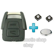 Coque clé + 2 switch Opel ASTRA ZAFIRA CORSA VECTRA MERIVA 2B clef + PILE