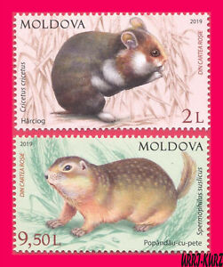 MOLDOVA 2019 Nature Fauna Animals Mammals Rodents Hamster & Gopher 2v Mi1094-95