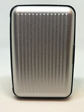 Aluminum Wallet- sleek ergonomic design-holds credit cards, cash, coins - Silver