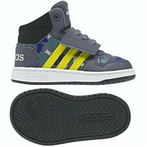 Adidas Hoops Mid 2.0 Childrens Shoes Baby Boys Shoes Camouflage Grey/Blue