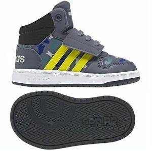 ADIDAS HOOPS MID 2.0 Kinder Schuhe Baby Jungen Shoes camouflage grau/blau EUR 23