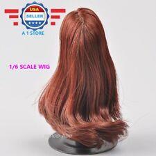 KUMIK 1/6 scale DARK REDDISH Hair Wig for 12'' Female Figure Doll