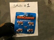 ERTL Farm Country Hereford Beef Cattle, # 4343 1/64 Scale, Model Railroad
