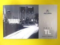 TL T L Sedan 04 2004 Acura Owners Owner's Manual All Models OEM