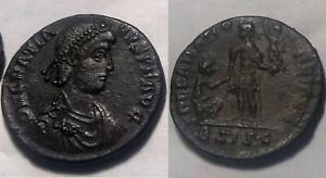 Rare genuine Ancient Roman coin Emperor Gratian 379AD Female Victory Siscia mint