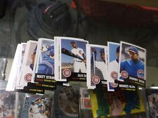2002 Topps Heritage Chicago Cubs Complete Team Set w/ SP's (17)