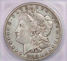 1893-CC 1893 Morgan Silver Dollar ICG EF40