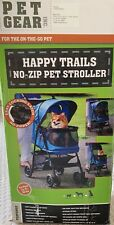 Pet Gear No-Zip Happy Trails Pet Stroller for Cats/Dogs, Zipperless Entry, Ea...