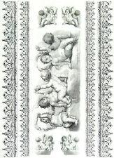 Carta di riso Angeli barocco Decoupage Scrapbook Foglio Craft