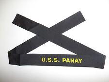 b9516 US Navy WW2 Cap Hat Tally U.S.S. Panay PR5 Yangtze Patrol China 1937 IR32D